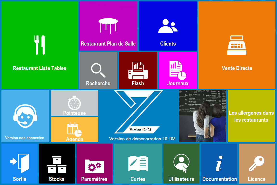 Zatyoo touchscreen logiciel caisse enregistreuse